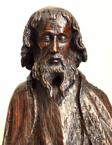 Oak statue of Saint-Paul ca.1400 - Middle age