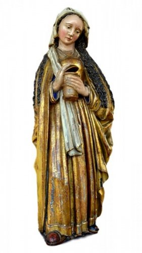 A polychromed  statue of St-Magdalene, Late 15th century