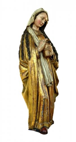 Sculpture  - A polychromed  statue of St-Magdalene, Late 15th century