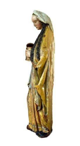 A polychromed  statue of St-Magdalene, Late 15th century -