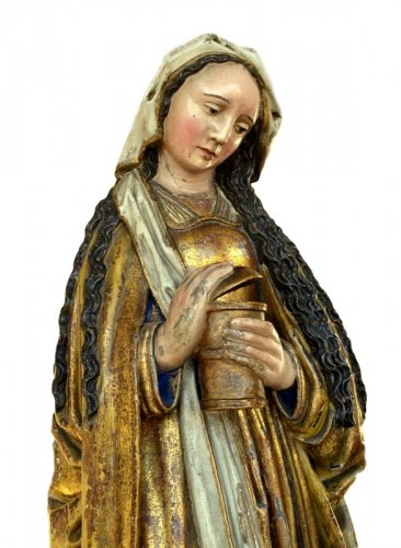 16th century - A polychromed  statue of St-Magdalene, Late 15th century