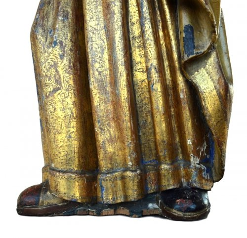 A polychromed  statue of St-Magdalene, Late 15th century - Middle age