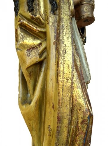 Middle age - A polychromed  statue of St-Magdalene, Late 15th century