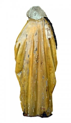 Antiquités - A polychromed  statue of St-Magdalene, Late 15th century