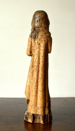 Limewood figure of a female Saint, Cologne Mid-14th century -