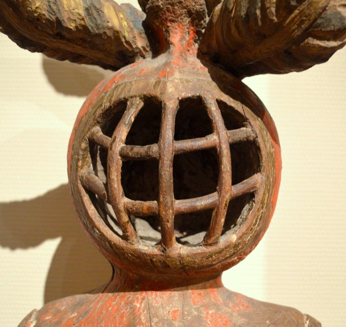 casque en tilleul sculpt vers 1550 xvie si cle. Black Bedroom Furniture Sets. Home Design Ideas