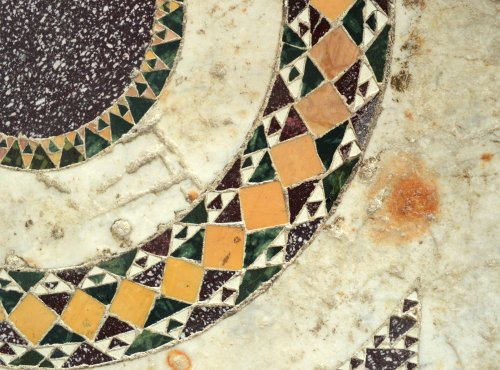 Middle age - Cosmati tile, Italy, 13th century