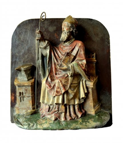Important stone relief of St-Eloy, 15th century