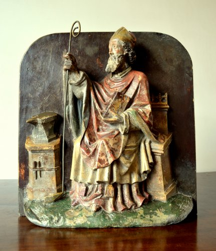 Important stone relief of St-Eloy, 15th century - Sculpture Style Middle age