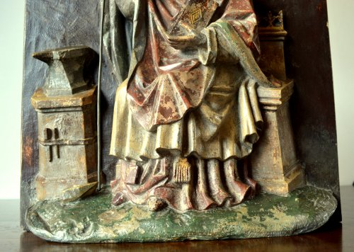 Important stone relief of St-Eloy, 15th century -