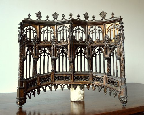 Carved oak Baldachin.Late 15th century - Architectural & Garden Style Middle age
