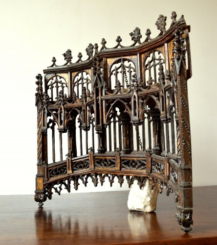 Architectural & Garden  - Carved oak Baldachin.Late 15th century