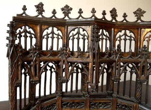 Carved oak Baldachin.Late 15th century - Middle age