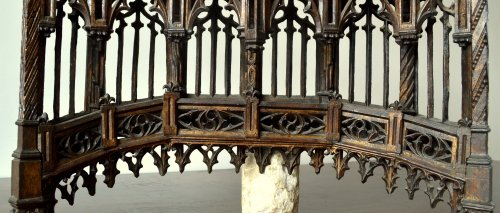 Middle age - Carved oak Baldachin.Late 15th century