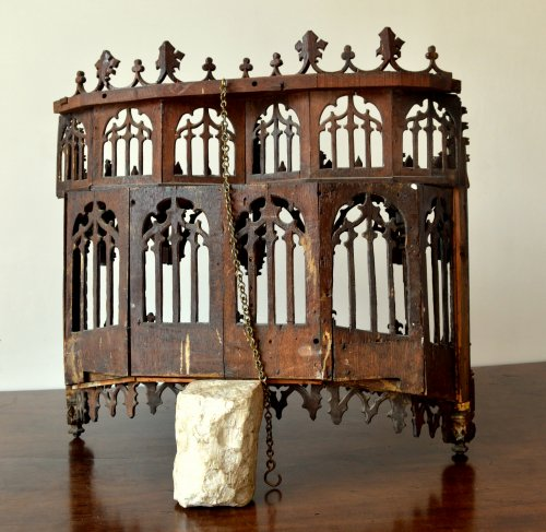 Antiquités - Carved oak Baldachin.Late 15th century