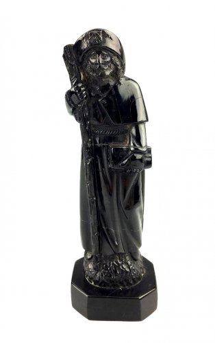 Jet figure of St-James of Compostella.17th century