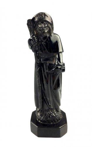 Jet figure of St-James.17th century