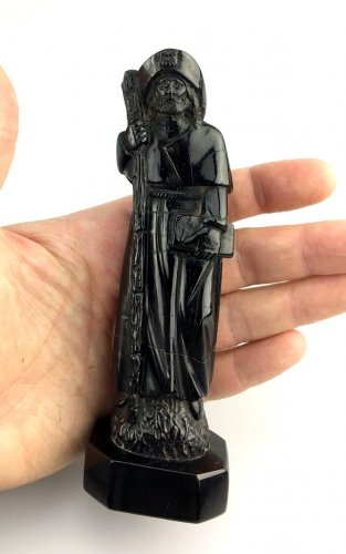 Sculpture  - Jet figure of St-James of Compostella.17th century