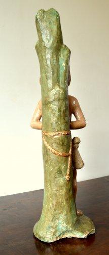 - Limestone figure of St-Sebastian.16th century.