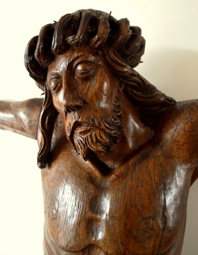 Christ in oak wood. Circa 1500 - Middle age