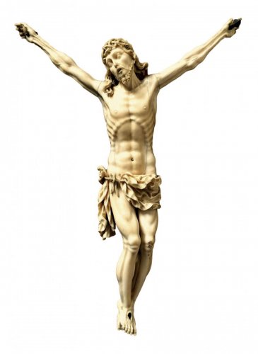 Ivory carved Christ.17th century