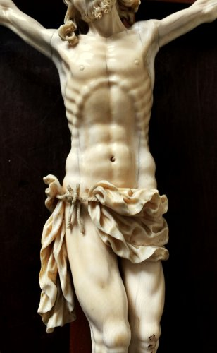 17th century - Ivory carved Christ.17th century