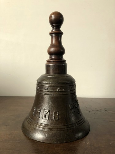 Bronze hand bell,dated 1578 - Renaissance