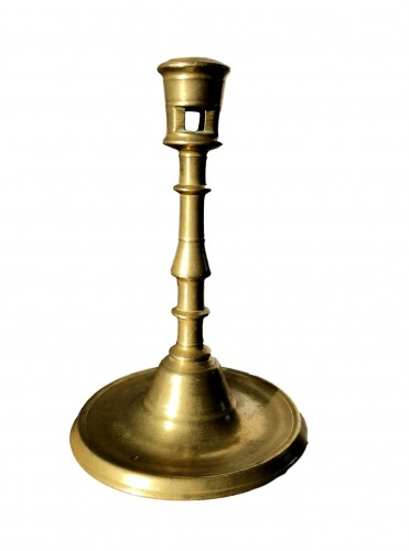 A small baluster candlestick, early 16th century