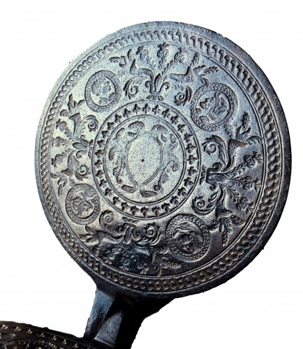 Renaissance waffle iron.Circa 1580.