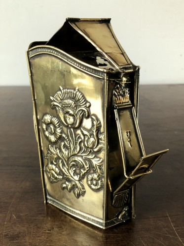 A brass travel lantern by Hans Beck.Nuremberg .17th century -