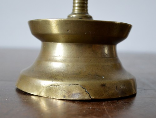 16th century - A Gothic brass Candlestick.Late 15th century.
