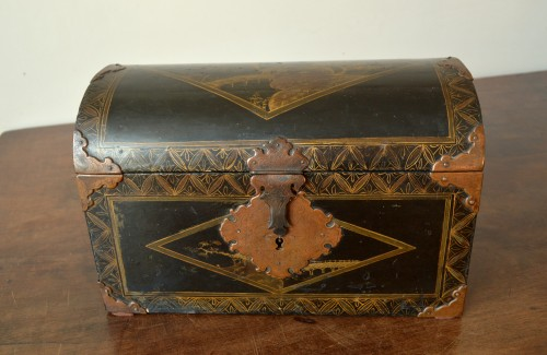 Asian Art & Antiques  - A Namban black lacquer on wood casket.17th century.