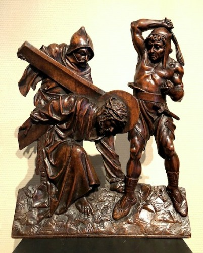 Relief in wood 'Road to the calvary'.  Mid-16th century - Sculpture Style