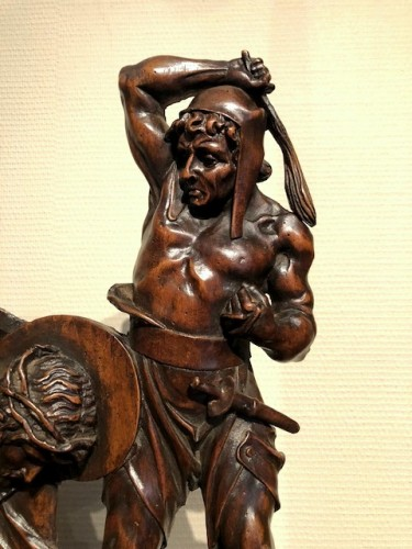 Sculpture  - Relief in wood 'Road to the calvary'.  Mid-16th century