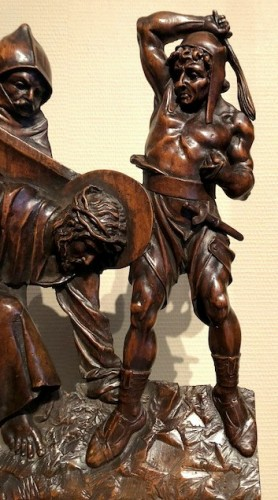 Relief in wood 'Road to the calvary'.  Mid-16th century -