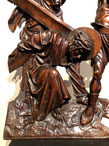 - Relief in wood 'Road to the calvary'.  Mid-16th century