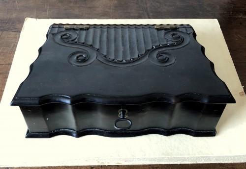 A dutch colonial ebony bible box.18th century -