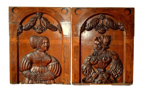 A pair of marquetry panels, Nuremberg Late 16th century