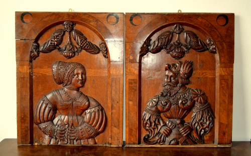 A pair of marquetry panels, Nuremberg Late 16th century - Architectural & Garden Style Renaissance