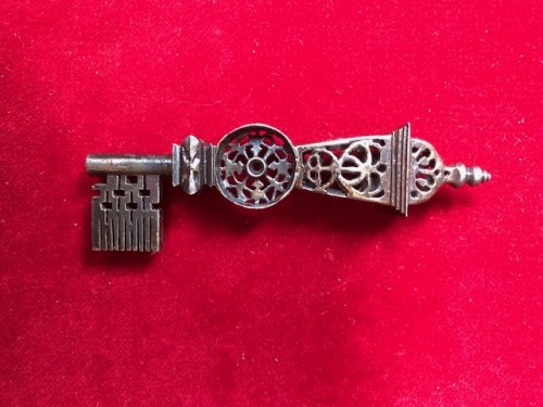 Iron lantern key.17th/18th century. - Curiosities Style