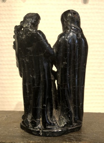 Sculpture  - A jet sculpture of the holy family.17th century