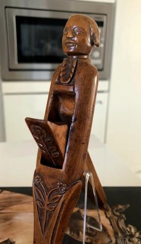 Curiosities  - A boxwood nutcracker,18th century