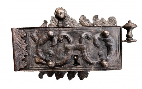 An iron door lock, Germany 18th century
