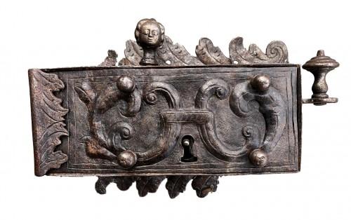 An iron door lock, Germany 18th century