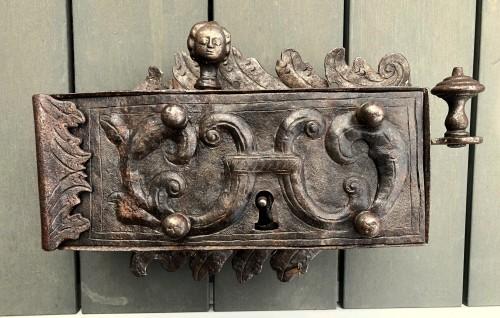An iron door lock, Germany 18th century - Architectural & Garden Style