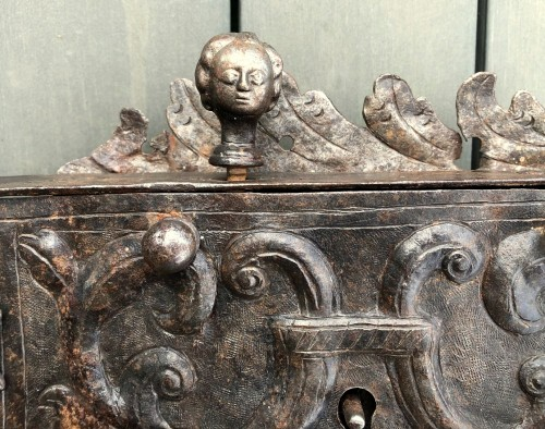 Architectural & Garden  - An iron door lock, Germany 18th century