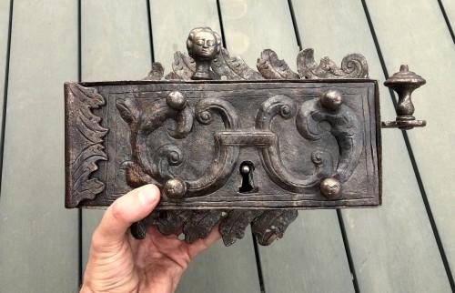 - An iron door lock, Germany 18th century