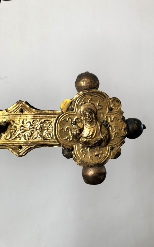 A copper processional cross.Italy Ca.1500-1550 -