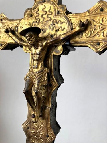 Renaissance - A copper processional cross.Italy Ca.1500-1550