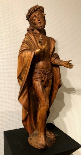 Limewood figure of Christ, Germany circa 1510 - Sculpture Style